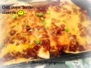 chilli cheese burrito caserole