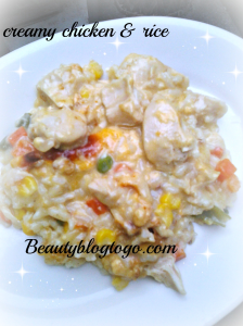 creamy chicken& rice