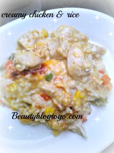 creamy chicken& rice