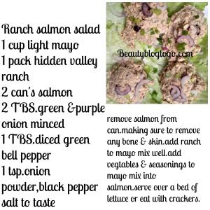 ranch salmon salad