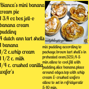 biancas banana cream pie recipe