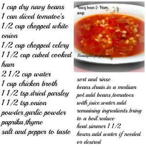 navy bean and ham soup recipe