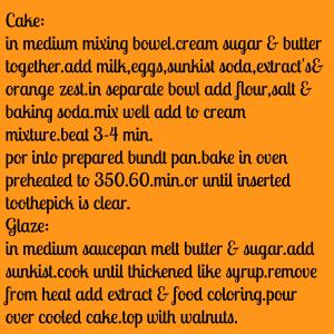 sunkist cake inst.