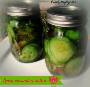 cucumber salad beautyblogtogo