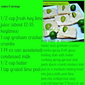 keylime squares beautyblogtog recipe