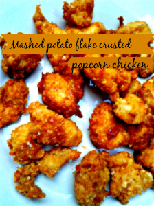 mashed potatao flaked popcorn chicken beautyblogtogo