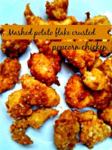 mashed potatao flaked popcorn chicken beautyblogtogo