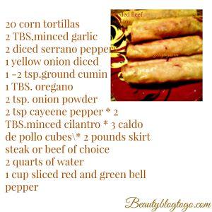 beef taquitos recipe