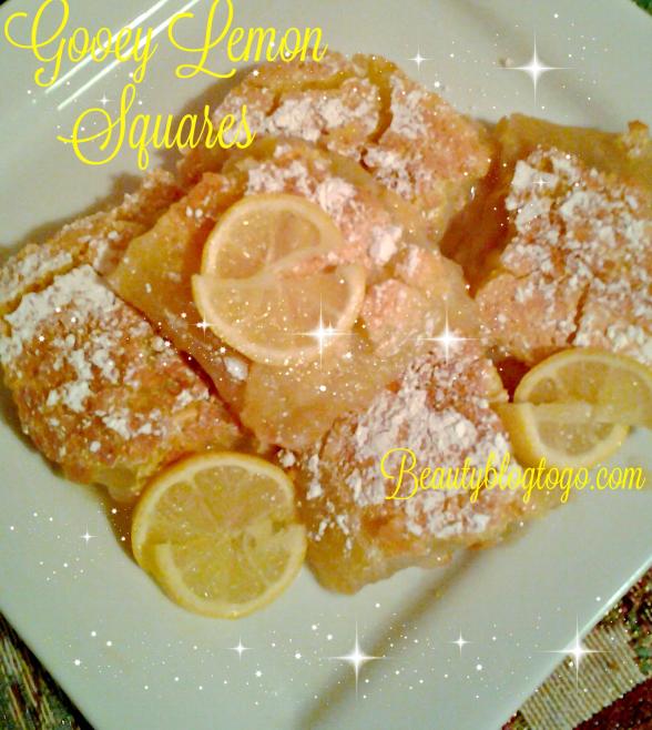 gooey lemon squares Beautyblogtogo.com